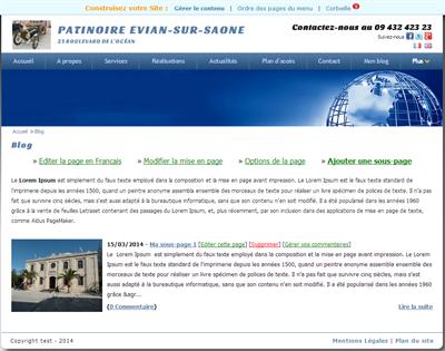 Votre page de type Blog contenant toutes vos articles