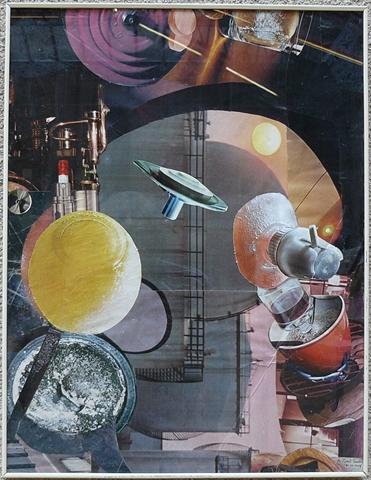 Vision céleste 1.collage. 68x52