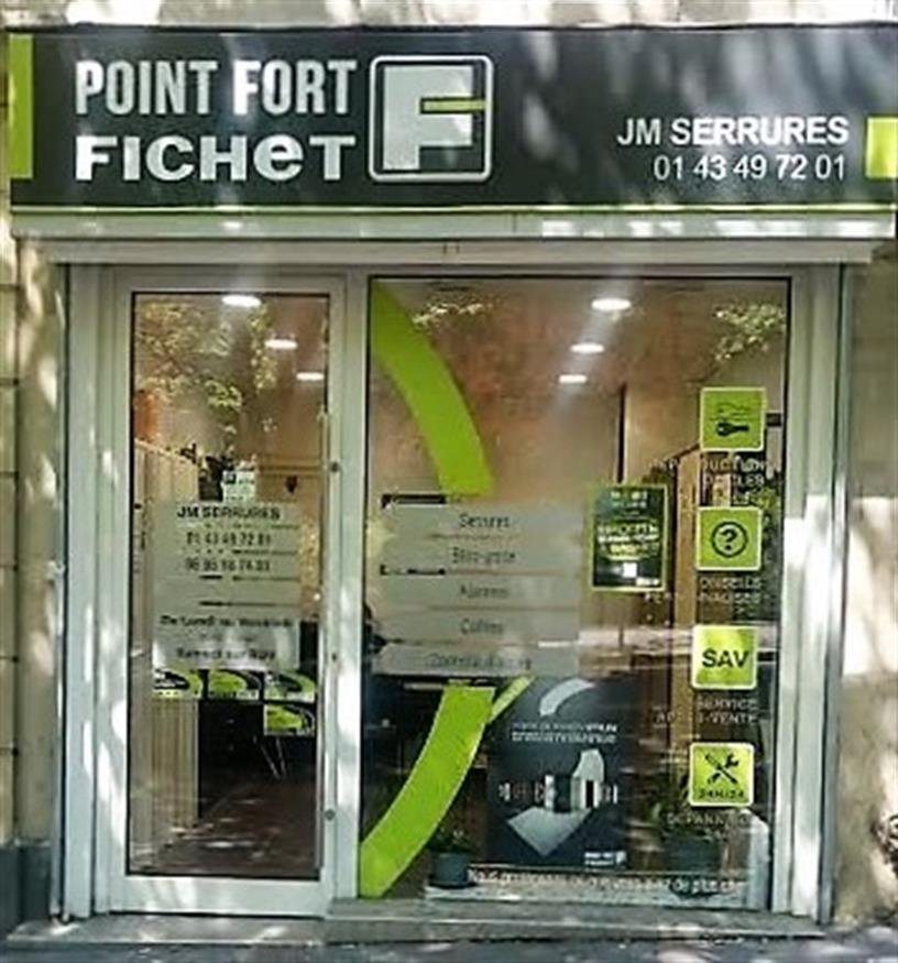 JM SERRURES / POINT FORT FICHET / PARIS 75020