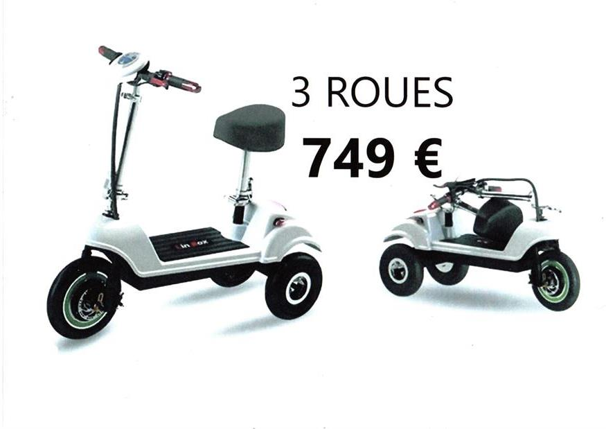 tricycle trottinette scooter vélo électrique pliable pliant adulte JPA 350 350+ handicape 3 roues